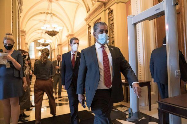 PHOTO: Rep. Adriano Espaillat walks to the House chamber at the Capitol in Washington, D.C., Jan. 13, 2021. (J. Scott Applewhite/AP, FILE)