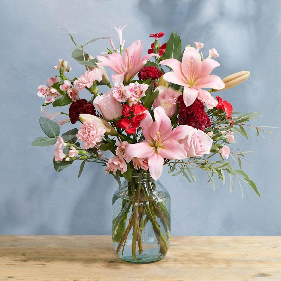 """<p>Want to send a bouquet that feels classic but not cliché? Ash is here to save the day. This dreamy mix of unusual celosia and perfumed lilies will delight, from bud to bloom.</p><p><a class=""""link rapid-noclick-resp"""" href=""""https://go.redirectingat.com?id=127X1599956&url=https%3A%2F%2Fwww.bloomandwild.com%2Fsend-flowers%2Fsend%2Fthe-ash-ht%2F3522&sref=https%3A%2F%2Fwww.prima.co.uk%2Fhome-ideas%2Fg35359342%2Fbloom-wild-valentines-day-red-roses%2F"""" rel=""""nofollow noopener"""" target=""""_blank"""" data-ylk=""""slk:BUY NOW"""">BUY NOW</a></p>"""
