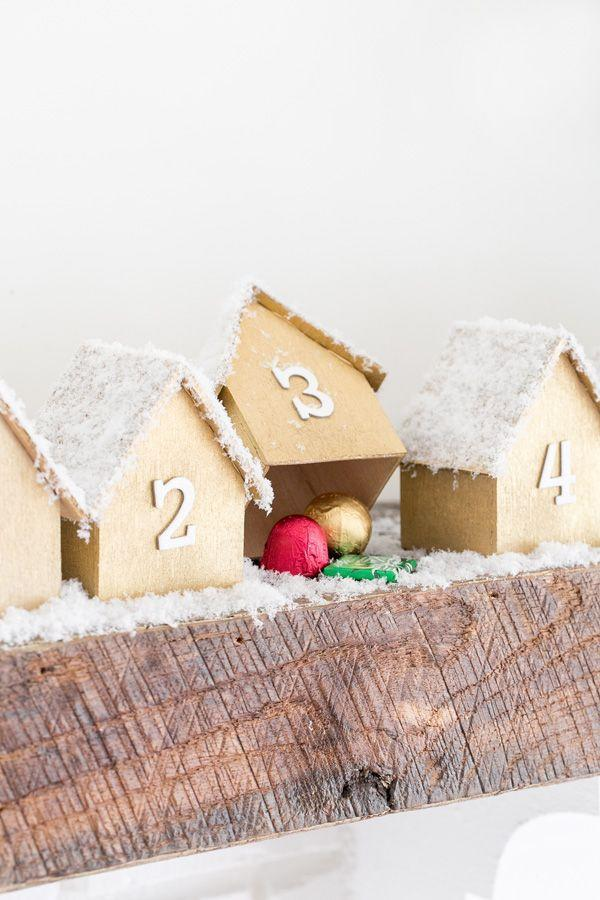 "<p>Upgrade your advent calendar tradition with this DIY gingerbread version from <a href=""https://sugarandcharm.com/diy-wooden-houses-advent-calendar"" rel=""nofollow noopener"" target=""_blank"" data-ylk=""slk:Sugar and Charm"" class=""link rapid-noclick-resp"">Sugar and Charm</a>. The little wooden houses are surprisingly easy to make and they're the perfect thing to spruce up your mantle as you prepare for the holiday. </p>"