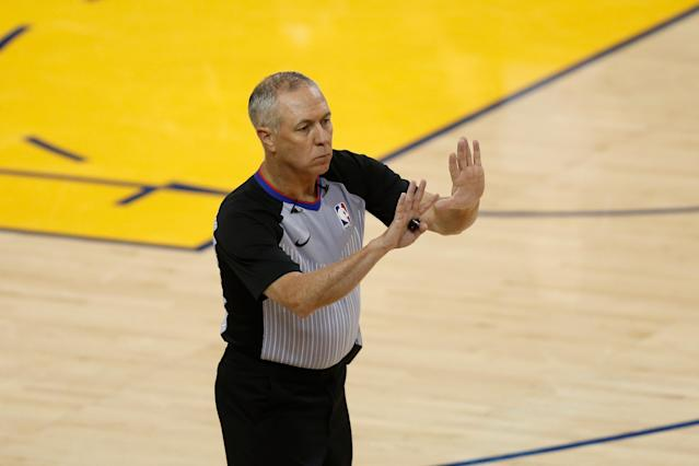 After 19 seasons on the court, referee Jason Phillips will run the NBA's replay center next season. (Lachlan Cunningham/Getty Images)