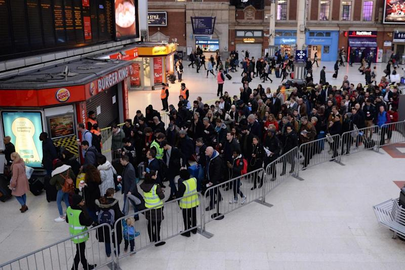 Southern: Commuters hit by strike action in the run up to last Christmas. (PA)