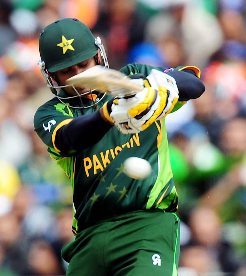 Pakistan's Mohammad Hafeez during the ICC Champions Trophy match at Edgbaston, Birmingham.