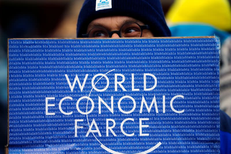 Climate protesters demonstrate against WEF in Landquart