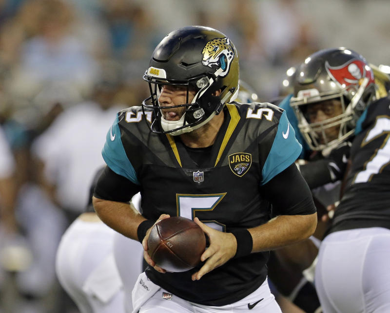 Jaguars quarterback Blake Bortles isn't guaranteed to start Week 1 after a terrible preseason game Thursday. (AP)