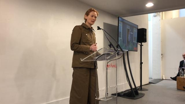 Tilda Swinton at the launch