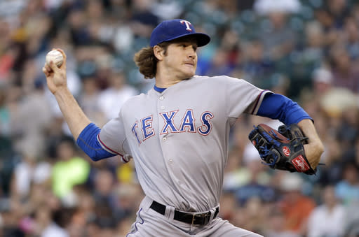 "Miles Mikolas earned the nickname the ""Lizard King"" for a weird reason. (AP Photo/Elaine Thompson, File)"