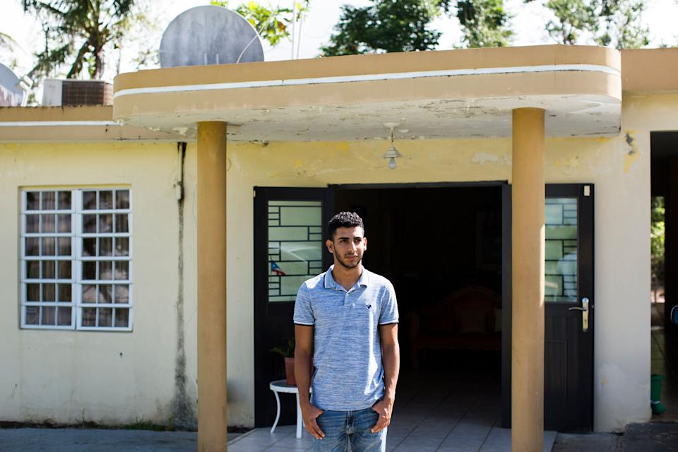 Jeancarlo Ruiz Núñez, 21, at his family'€™s home in Lares, P.R. (Photo: Erika P. Rodriguez for HuffPost)