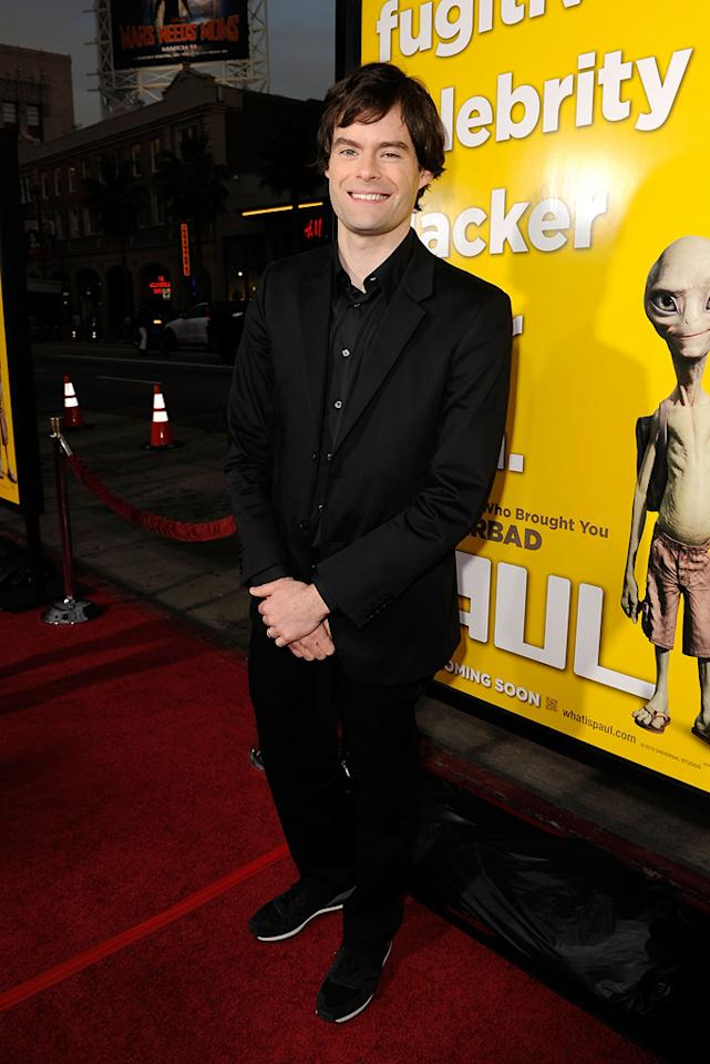 """<a href=""""http://movies.yahoo.com/movie/contributor/1804890653"""">Bill Hader</a> attends the Los Angeles premiere of <a href=""""http://movies.yahoo.com/movie/1810097993/info"""">Paul</a> on March 14, 2011."""