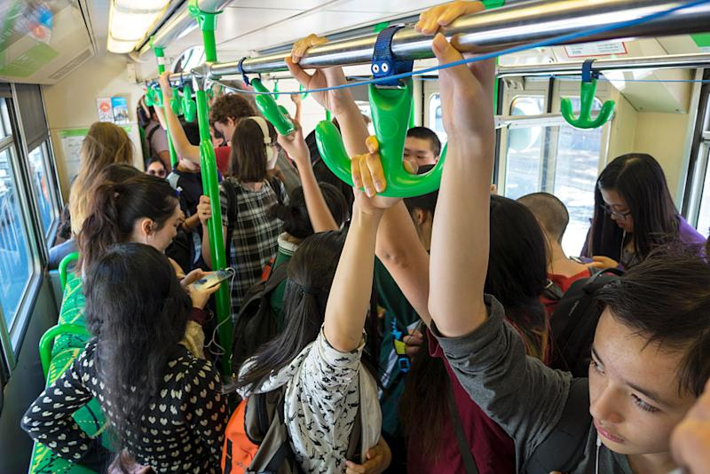 Passengers seen on a crowded Melbourne tram. Source: Getty