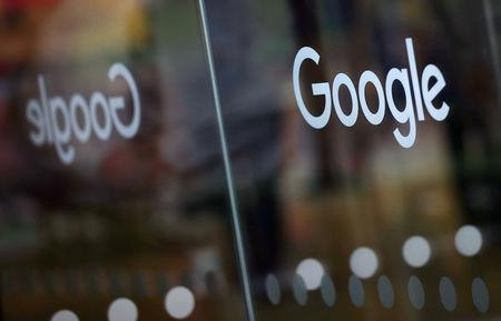 FILE PHOTO: The Google logo is pictured at the entrance to the Google offices in London, Britain January 18, 2019. REUTERS/Hannah McKay/File Photo