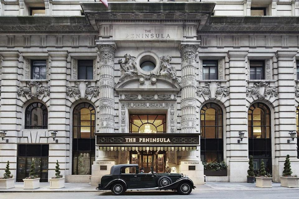 <p><strong>How did it strike you on arrival?</strong><br> Opulence greets you the minute you walk through the doors set just off of Fifth Avenue, where flower arrangements and a grand staircase serve as the lobby's centerpiece. It's a formal atmosphere, but not an unwelcoming one.</p> <p><strong>What's the crowd like?</strong><br> You'll find well-to-do business travelers who clearly have large expense accounts, as well as tourists who cherish the cosseted environment typical of Peninsulas everywhere.</p> <p><strong>Importantly: Tell us about your room.</strong><br> Even the most basic rooms here are roomy by New York standards, at 370 square feet, with king beds and utilizing calming shades of gray, taupe, and gold. There's special attention paid to the workspace, with a large desk outfitted with a printer, scanner, and fax machine.</p> <p><strong>We're craving some deep, restorative sleep. They got us?</strong><br> It'd be hard to find better beds than those here, kitted out in Fili D'Oro linens from Italy.</p> <p><strong>How about the little things, like mini bar, or shower goodies. Any of that worth a mention?</strong><br> Though luxurious, there's nothing particularly one-of-a-kind we'd take home with us. The Peninsula is all about the overall effect of the elegant room, the neutral palette, and restrained, calming decor.</p> <p><strong>Please tell us the bathroom won't let us down.</strong><br> Huge marble bathrooms have big tubs with televisions within the wall, and the toiletries, custom made by Oscar de la Renta, are worth stealing.</p> <p><strong>We all need some good Wi-Fi. What's the word on that?</strong><br> Fast, free Wi-Fi.</p> <p><strong>Anything stand out about other services and features?</strong><br> It's a treat to have a swimming pool like this in the middle of Manhattan, which is just long enough for a few laps or a relaxing dip. And the Salon de Ning rooftop bar and lounge is a chic retreat among the Midtown skyscrapers.</p> <p><strong>What w