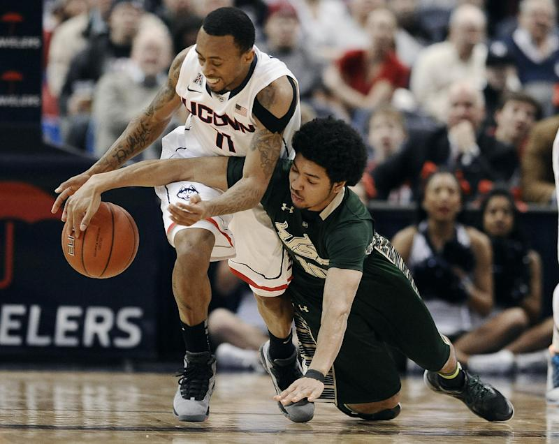 Defense leads No. 24 UConn in 83-40 rout of USF