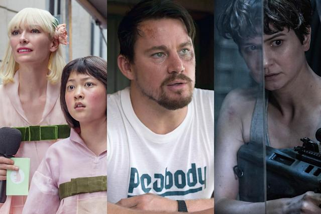 "<p>The summer movie season's biggest hero wasn't Chris Pratt or Gal Gadot: it was John Denver. The late singer-songwriter's music boomed from multiplexes throughout 2017, heard in such diverse films as Bong Joon-ho's South Korea-set ""girl and her giant pig"" adventure, <em>Okja</em>, to Matthew Vaughn's blockbuster sequel <em>Kingsman: The Golden Circle</em>, with <em>Alien: Covenant </em>and <em>Logan Lucky </em>in between. <a href=""https://www.yahoo.com/entertainment/john-denver-music-seemingly-every-movie-days-203627101.html"" data-ylk=""slk:It's all part of a concentrated strategy;outcm:mb_qualified_link;_E:mb_qualified_link"" class=""link rapid-noclick-resp newsroom-embed-article"">It's all part of a concentrated strategy</a> to take Denver's songs home to the place where they belong: on the big screen. (Photo: Netflix/Fingerprint Releasing/20th Century Fox) </p>"