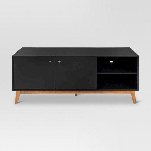 "From Target's new home line, Project 62. Plus, <a href=""https://www.target.com/p/58-guthrie-mid-century-modern-two-tone-media-stand-project-62-153/-/A-50752367#lnk=sametab"" target=""_blank"">get free shipping and handling at Target</a> now through Dec. 23."