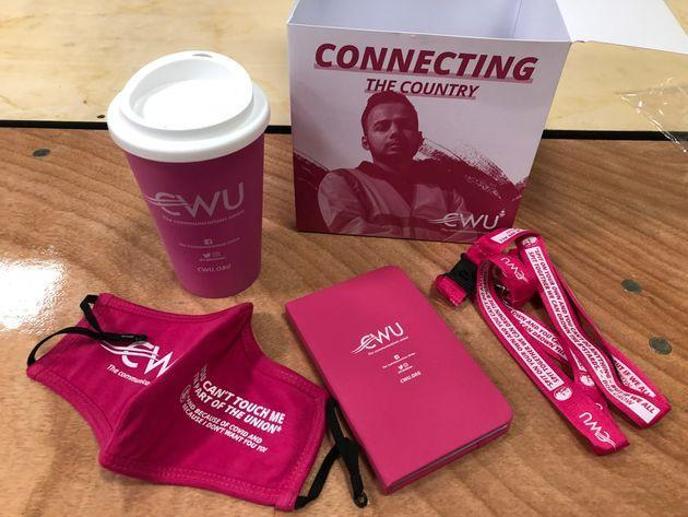 CWU freebie at Labour Party conference (Photo: HuffPost UK)