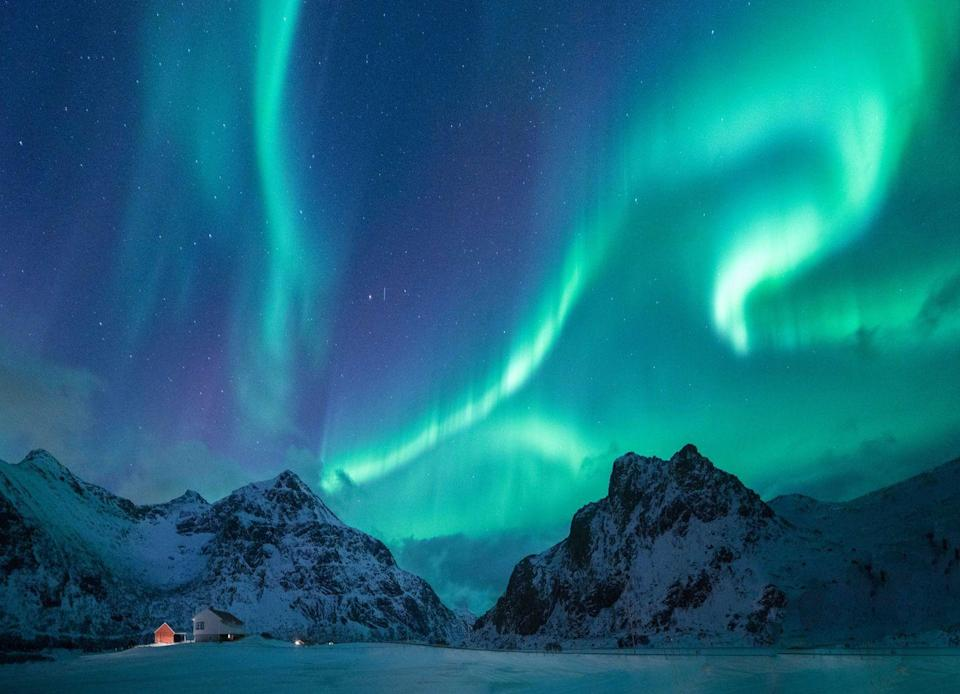 """<p>The <a href=""""https://www.alaska.org/things-to-do/northern-lights-viewing"""" rel=""""nofollow noopener"""" target=""""_blank"""" data-ylk=""""slk:Northern Lights"""" class=""""link rapid-noclick-resp"""">Northern Lights</a> are a magnificent wonder of the world, and I doubt your camera will do the view justice when you see it firsthand in Alaska. </p><p>While this view is always contingent on the weather and time of year, be sure to do your research and plan ahead. It's recommended that the best time to see the lights from mid-August to mid-April, and the best towns to see them from are in Fairbanks and Anchorage. </p>"""