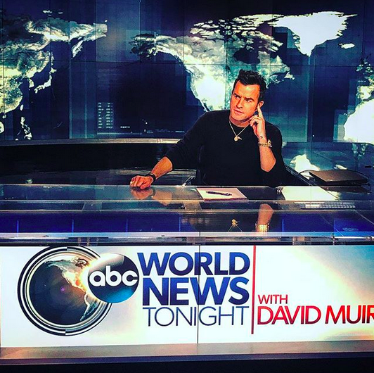 "<p><em>The Leftovers</em> alum gave us some terrible jokes to snicker at as he took over the ABC <em>World News Tonight</em> desk. ""Breaking news: This is me…breaking the news,"" he wrote. ""Now it's broken. This Just-in… Dad jokes, and how to spot them. Get it…Just-in? Okay boooooyeahiknowsostop."" Sigh, we'll forgive him because he's cute. (Photo: <a href=""https://www.instagram.com/p/BZSGyfTFcdB/?taken-by=justintheroux"" rel=""nofollow noopener"" target=""_blank"" data-ylk=""slk:Justin Theroux via Instagram"" class=""link rapid-noclick-resp"">Justin Theroux via Instagram</a>) </p>"