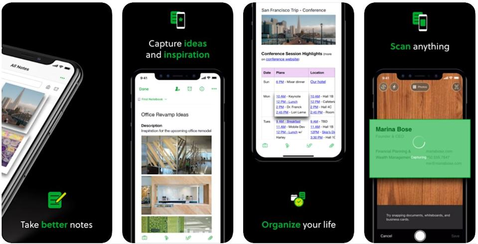 productivity apps - evernote