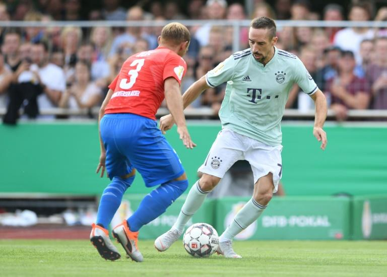 Franck Ribery was one of the Bayern Munich stars on show at fourth division Drochtersen/Assel