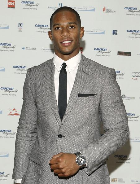 "<div class=""caption-credit""> Photo by: Getty Images</div><div class=""caption-title"">The sharp athlete</div>This year's winner of Esquire Magazine's <a href=""http://www.esquire.com/the-side/style-guides/best-dressed-nfl-players-2012#slide-1"" rel=""nofollow noopener"" target=""_blank"" data-ylk=""slk:Best dressed player in the NFL"" class=""link rapid-noclick-resp""><i>Best dressed player in the NFL</i></a> was New York Giants wide receiver Victor Cruz, and there's no doubt this <i>Boricua</i> was the right choice. According to the men's monthly, ""[it was] not only because he took his Super Bowl victory lap through New York Fashion Week…but because he did it in tailored suits with bold details…by established American designers like Tommy Hilfiger and Calvin Klein."""