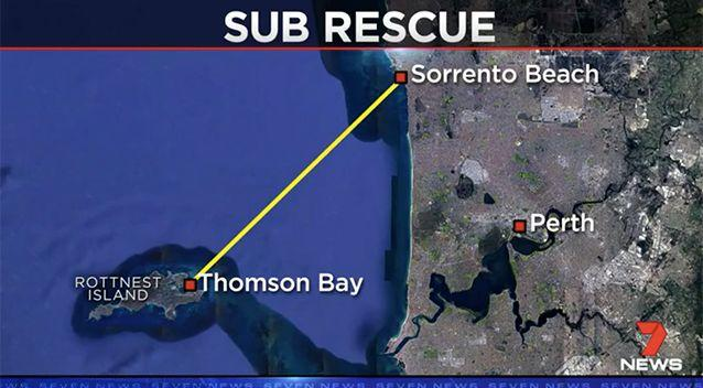 The event is a race between Rottnest Island and Sorrento beach.