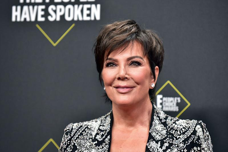 Kris Jenner attends the 2019 E! People's Choice Awards at Barker Hangar on November 10, 2019 in Santa Monica, California. (Photo by Rodin Eckenroth/WireImage)