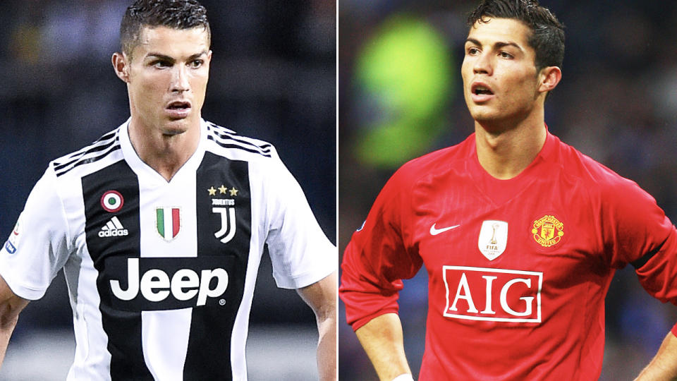 Cristiano Ronaldo, pictured here in action for Juventus and Manchester United.