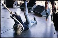 <p>Kurt Cobain performs at Pukkelpop Festival in Hasselt, Belgium in 1991. He and his band were known for destroying their equipment after a show ended.</p>