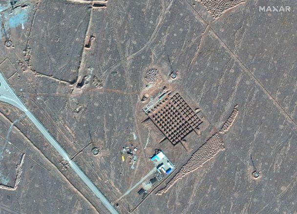 PHOTO: This Dec. 11, 2020, satellite photo by Maxar Technologies shows construction at Iran's Fordo nuclear facility. (Maxar Technologies via AP)