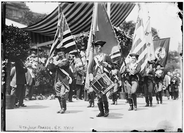 <p>4th July Parade, 1911, N.Y. (Bain Collection/Library of Congress) </p>