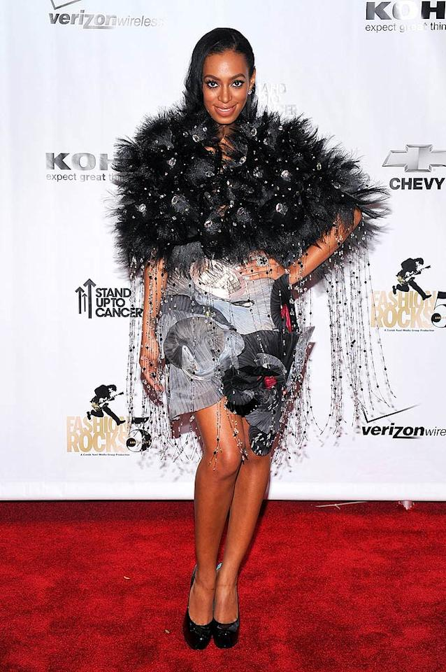 "The House of Dereon strikes again as Solange Knowles delivers yet another disaster on the red carpet. Dimitrios Kambouris/<a href=""http://www.wireimage.com"" target=""new"">WireImage.com</a> - September 5, 2008"