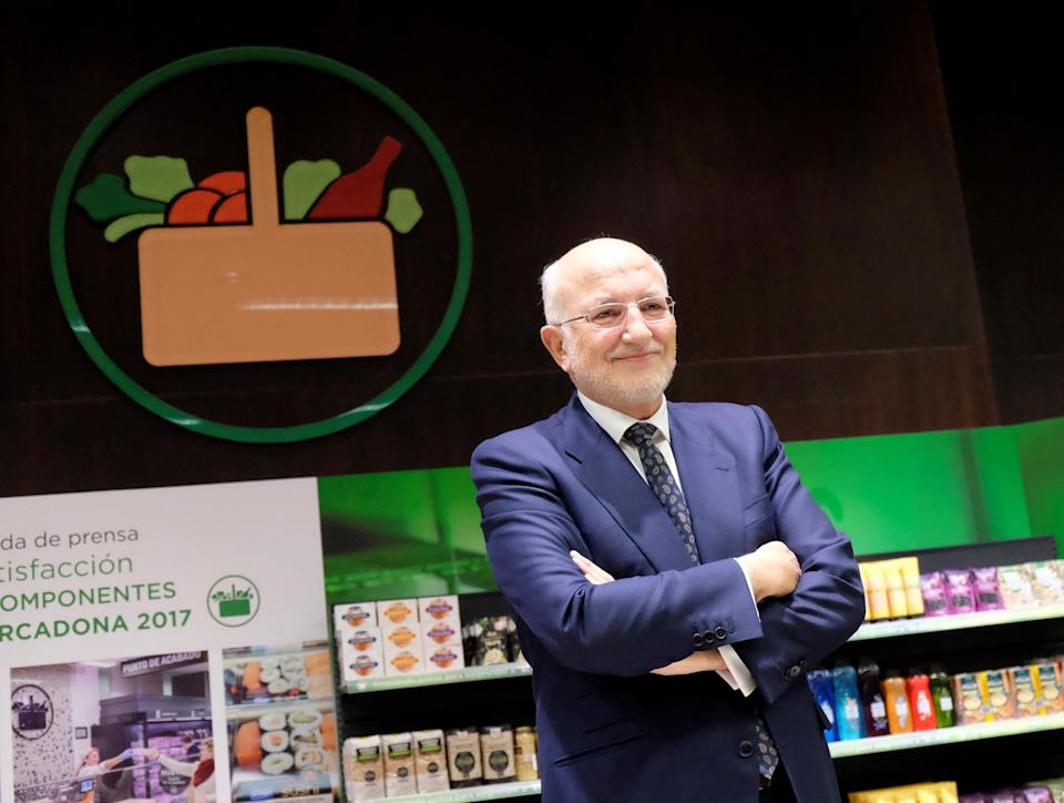 Juan Roig, CEO of Spanish discount food retailer Mercadona, poses during the presentation of 2017 results in Valencia, Spain March 13, 2018.  REUTERS/Heino Kalis