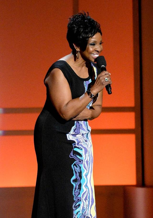 Motown legend Gladys Knight will sing the Star Spangled Banner (AFP Photo/KEVORK DJANSEZIAN)