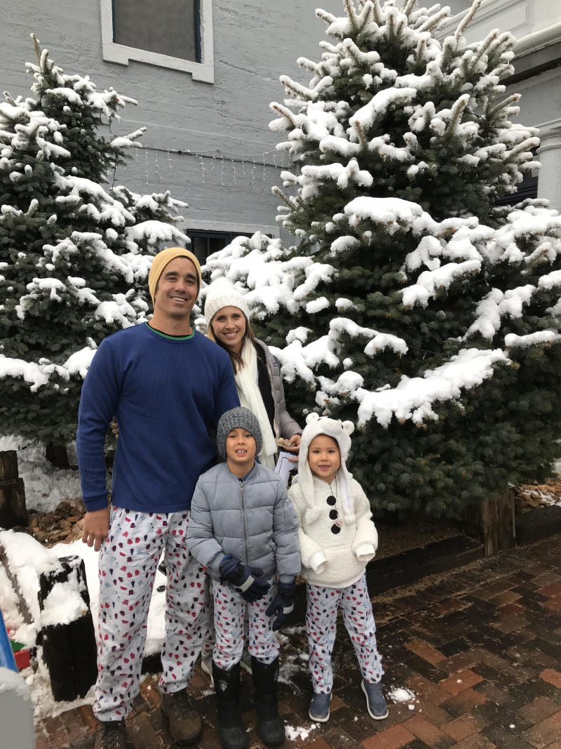Lauren Mochizuki of San Juan Capistrano, California and her family during a visit to the Polar Express in Arizona. (Photo courtesy of Lauren Mochizuki)