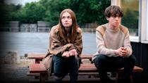 """<p>This dark comedy-drama tells the story of 17-year-old James, who thinks he is becoming a psychopath, and Alyssa, a rebel who sees James as a chance to escape from her unfortunate home life.</p> <p><a href=""""https://www.netflix.com/title/80175722"""" class=""""link rapid-noclick-resp"""" rel=""""nofollow noopener"""" target=""""_blank"""" data-ylk=""""slk:Watch End of the F***ing World on Netflix now"""">Watch <strong>End of the F***ing World</strong> on Netflix now</a>.</p>"""