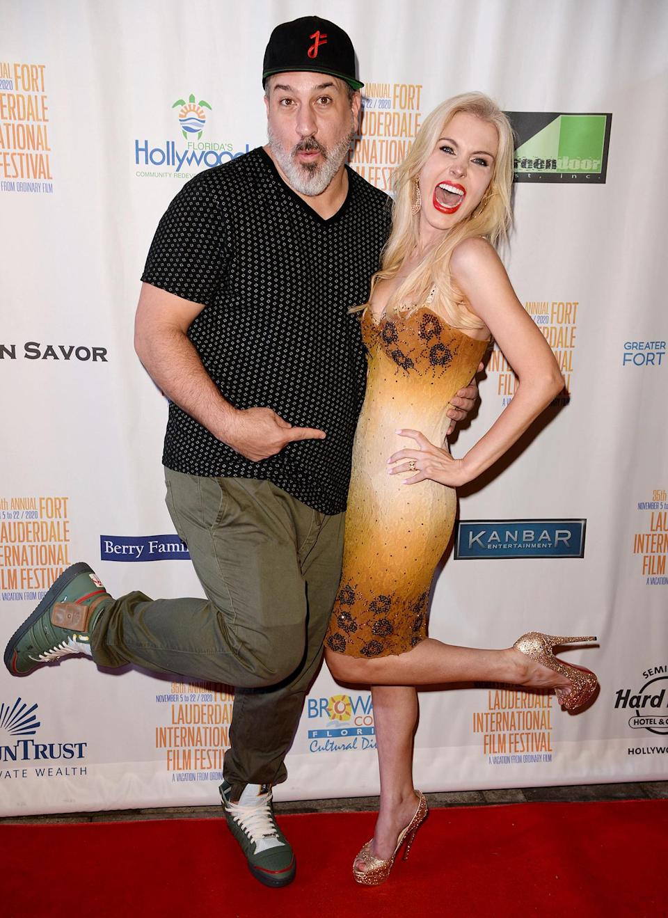 <p>Joey Fatone and Kate Katzman have fun on the red carpet for the screening of <em>The Comeback Trail</em> at the 35th Annual Fort Lauderdale International Film Festival on Thursday.</p>
