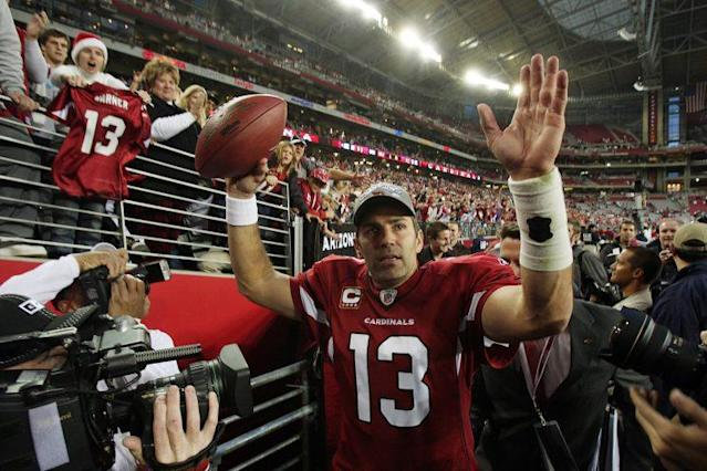 Kurt Warner was elected to the Pro Football Hall of Fame. (AP)