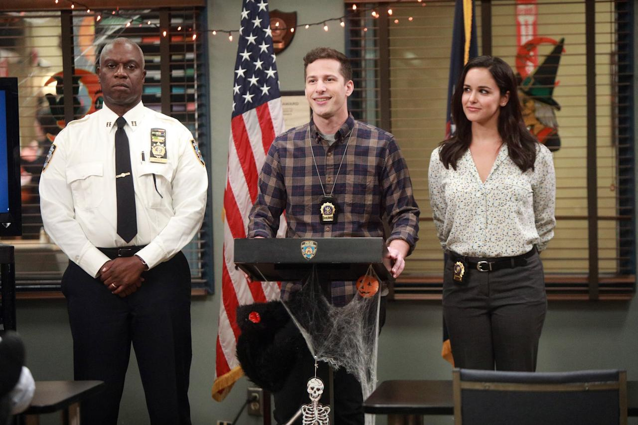"<p>It's a new spin on the old police show, with a group of quirky, quippy detectives solving crime and getting into shenanigans at their NYC precinct. More of a workplace sitcom than a police show, it's definitely the source of at least one meme you know.</p> <p><a href=""http://www.hulu.com/series/brooklyn-nine-nine-daf48b7a-6cd7-4ef6-b639-a4811ec95232"" target=""_blank"" class=""ga-track"" data-ga-category=""Related"" data-ga-label=""http://www.hulu.com/series/brooklyn-nine-nine-daf48b7a-6cd7-4ef6-b639-a4811ec95232"" data-ga-action=""In-Line Links"">Watch <strong>Brooklyn Nine-Nine</strong> on Hulu.</a></p>"