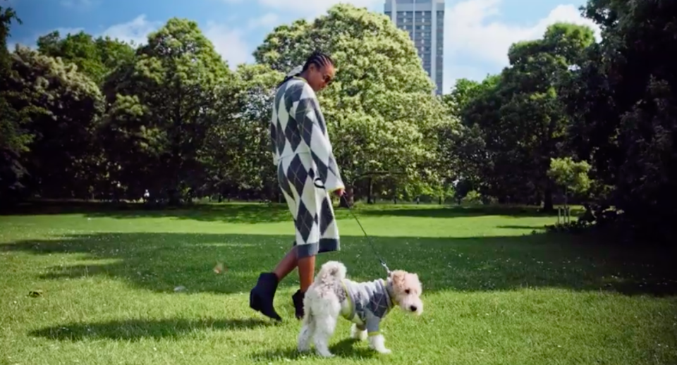 H&M have launched a range of matching dog and owner knitwear [Photo: H&M}