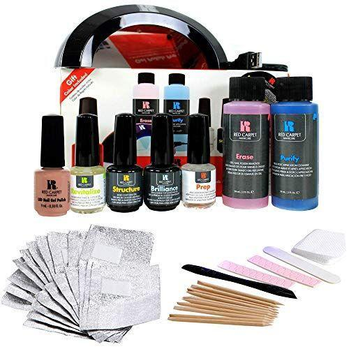 """<p><strong>Red Carpet Manicure</strong></p><p>ulta.com</p><p><strong>$79.99</strong></p><p><a href=""""https://go.redirectingat.com?id=74968X1596630&url=https%3A%2F%2Fwww.ulta.com%2Fp%2Fgel-polish-pro-kit-xlsImpprod3950155&sref=https%3A%2F%2Fwww.prevention.com%2Fbeauty%2Fg37678990%2Fbest-nail-polish-gift-sets%2F"""" rel=""""nofollow noopener"""" target=""""_blank"""" data-ylk=""""slk:SHOP NOW"""" class=""""link rapid-noclick-resp"""">SHOP NOW</a></p><p>Keeping up with gel manicures can get pricey. Fortunately, this gel polish pro kit comes with everything they'll need to complete their manicure at home. They'll find a LED dryer, gel polish remover, gel polishes, and cuticle oil inside the kit.</p>"""