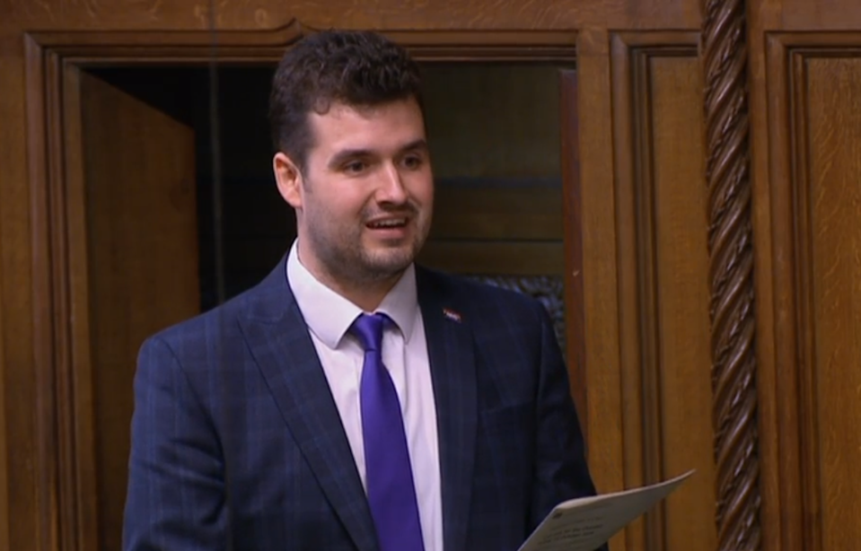 Conservative MP Elliot Colburn addresses the House of Commons (PA)