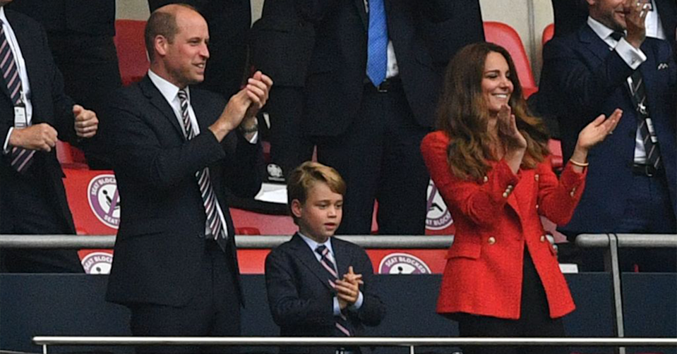 Prince William, Prince George and Kate Middleton.