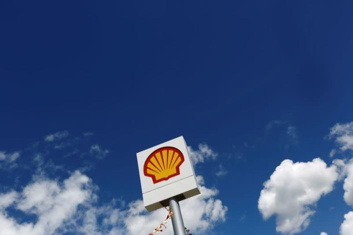 FILE PHOTO: The Shell logo is pictured at a gas station in the western Canakkale province in Turkey