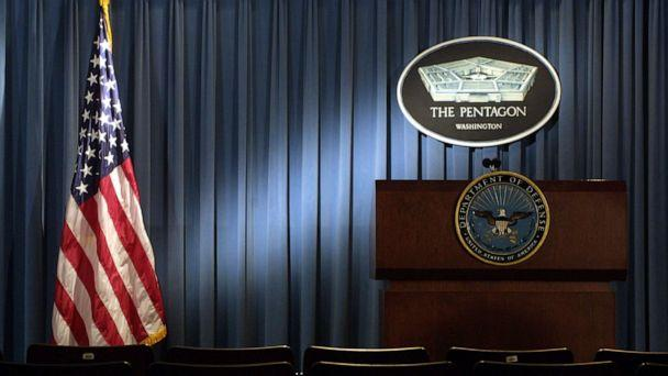 PHOTO: The briefing room at the Pentagon in Arlington, Va., Jan. 3, 2002. (Alex Wong/Getty Images, FILE)