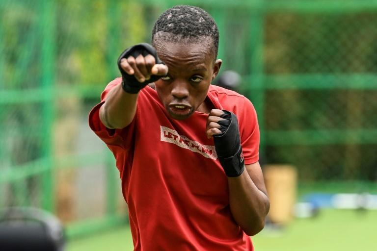 Kenyan boxer Christine Ongare trains ahead of the Tokyo Olympics