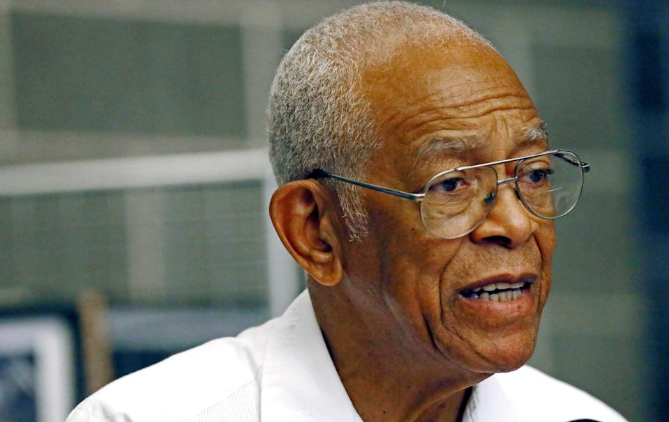 Hollis Watkins, national chairman of the Mississippi Freedom Summer 50th Anniversary conference, explains its importance at a news conference at Tougaloo College in Jackson, Miss., on  June 25, 2014. The conference commemorates the months of 1964 when volunteers came from across the country to assist state and local NAACP leaders and others in Mississippi's voter registration drives.