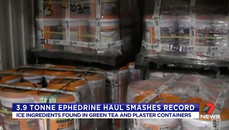 The size of this drug haul has astonished authorities. Source: 7 News