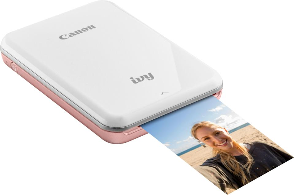 "<br><br><strong>Canon</strong> IVY Mini Photo Printer, $, available at <a href=""https://go.skimresources.com/?id=30283X879131&url=https%3A%2F%2Fwww.bestbuy.com%2Fsite%2Fcanon-ivy-mini-photo-printer-rose-gold%2F6219261.p%3FskuId%3D6219261"" rel=""nofollow noopener"" target=""_blank"" data-ylk=""slk:Best Buy"" class=""link rapid-noclick-resp"">Best Buy</a>"