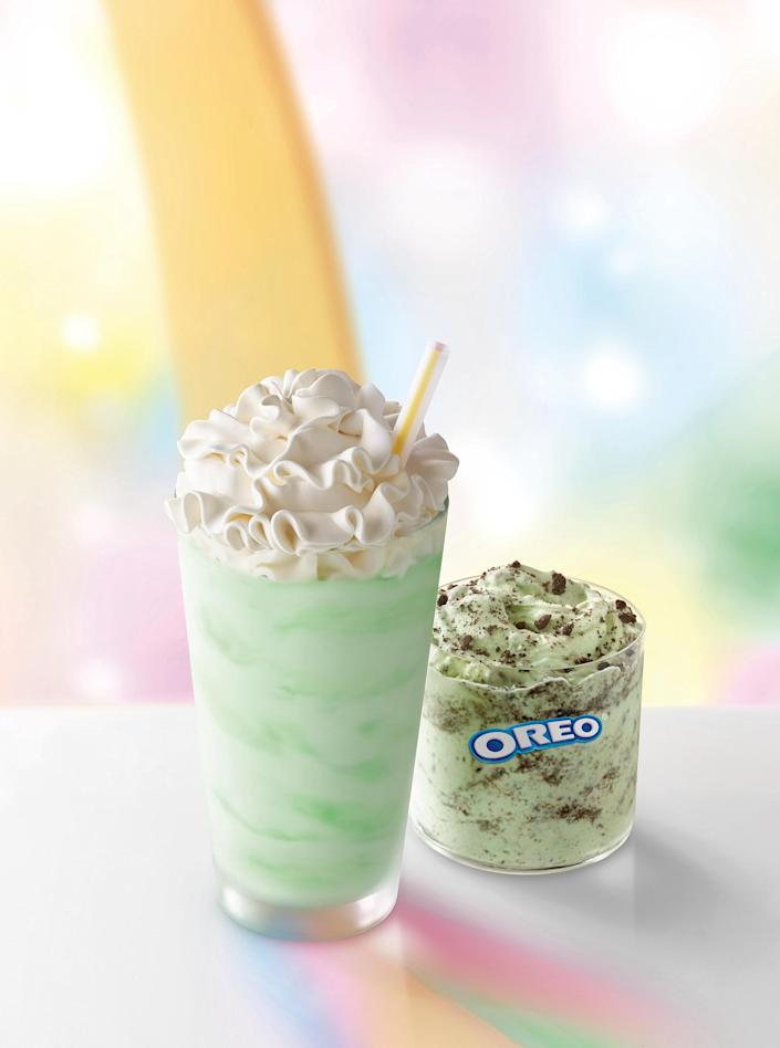 Dive into a flurry of minty flavor and Oreo cookies.  (McDonald's)
