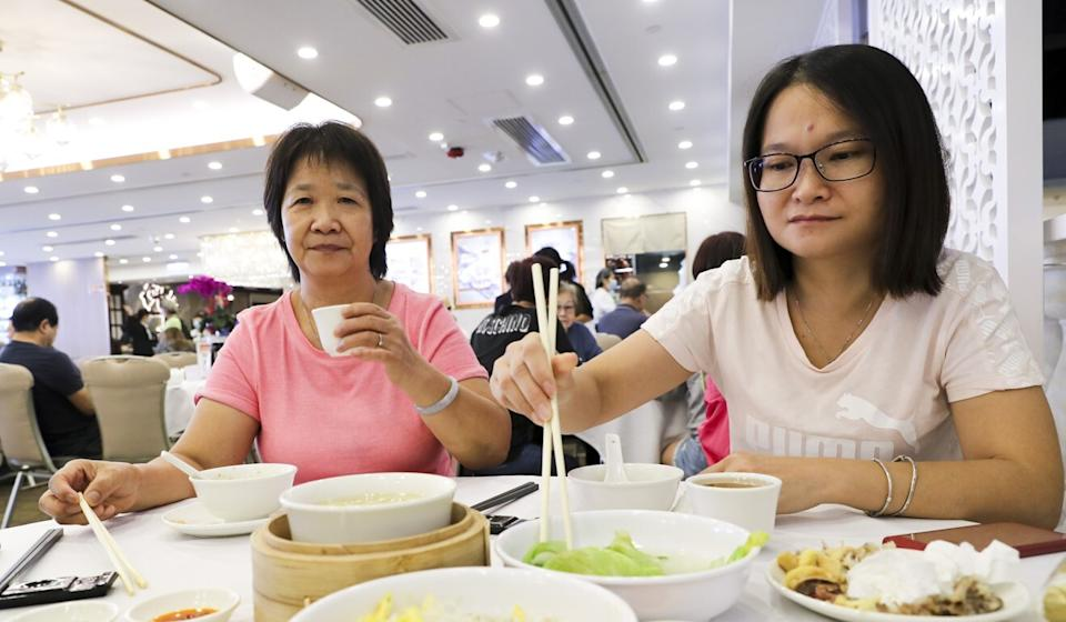 Housewife Jessica Pong (right) said she missed gathering for big celebratory meals with friends. Photo: Edmond So